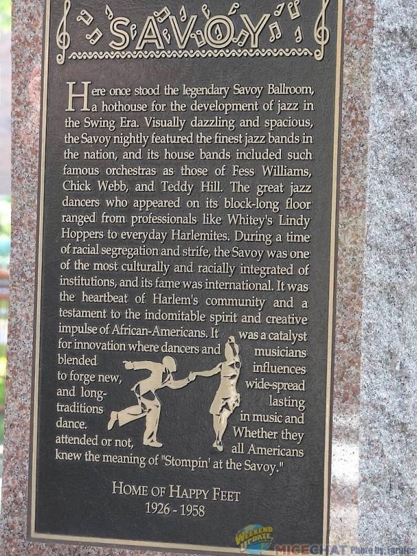 Harlem Marker for The Savoy