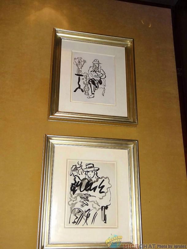 Robert DiNero, Sr.'s artwork at his son's Tribeca Grill