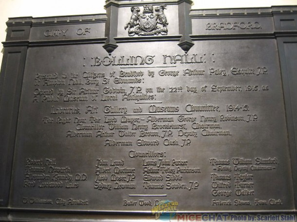 Plaque of Bolling Hall