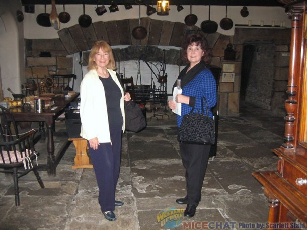 Scarlett and Linda in the kitchen, which is in the oldest part of the building