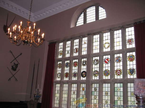 Window of the crests in the Dining hall