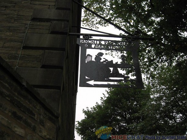 Bronte sign in Haworth (Yorkshire)