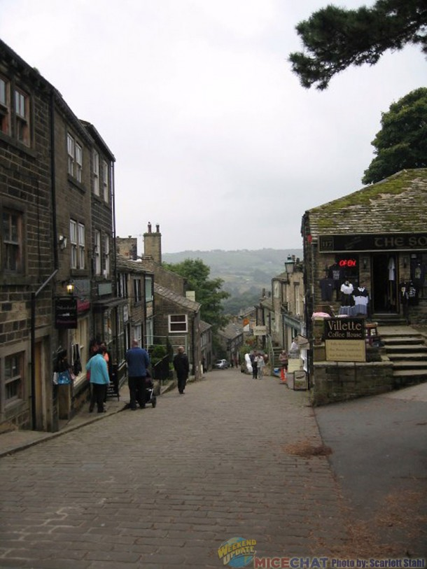 The view of Haworth going down the hill from the Brontes