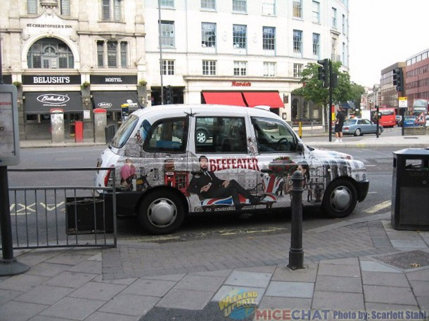 Taxi cab in Hammersmith