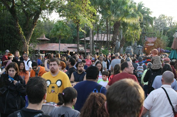 More crowds on December 30, 2013 in the Magic Kingdom