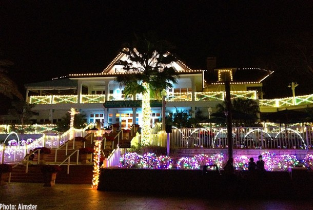 Carol of the Bells light show (Crown Colony)