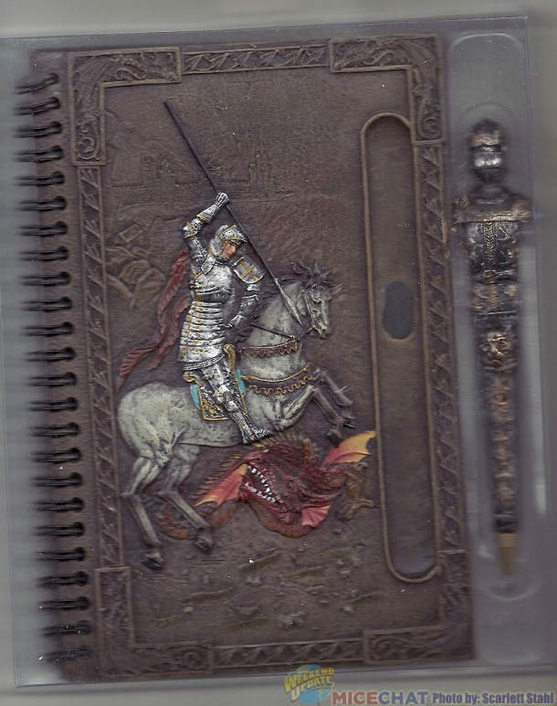 St George and the Dragon journal and decorative pen