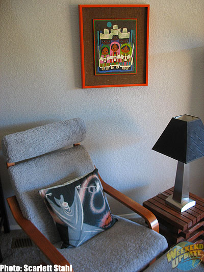 The Mary Blair reading corner of Maggie's living room (without Doodle)
