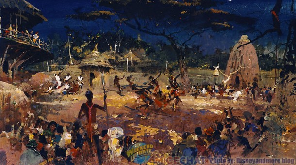 Herb Ryman artwork showing traditional african dances