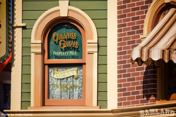Ron Dominguez's window on Main Street, U.S.A.