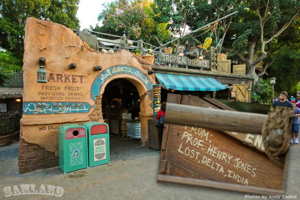 You might see Indiana Jones' name pop up around Adventureland's Tropical Imports snack shop