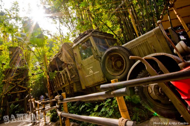 The Indiana Jones Adventure jeep — from movie prop to theme park theming.