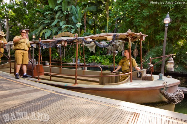 The re-imagined Jungle Cruise theming brought new boats