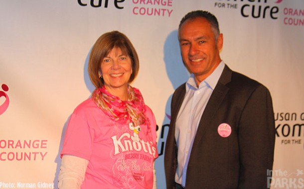 Executive Director of the Susan G. Komen Foundation OC, Lisa Wolter and Knott's General Manager, Raffi Kaprelyan
