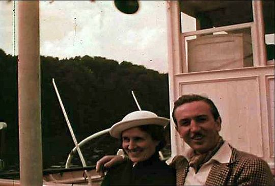 Lillian and Walt aboard the Wilhelm Tell in Switzerland on July 10. Courtesy: Walt    Disney Family Foundation