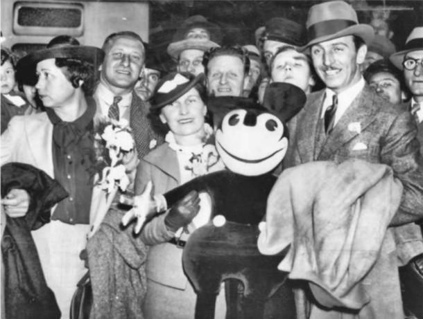 Walt and Lilian at London Paddington Station on June 12, 1935.