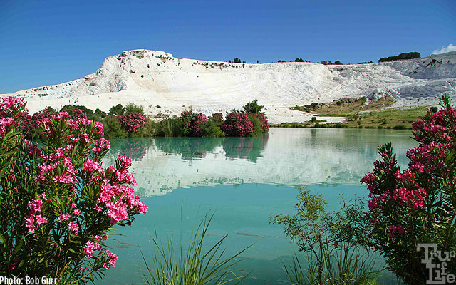 Pamukkale hot springs are thousands of years old