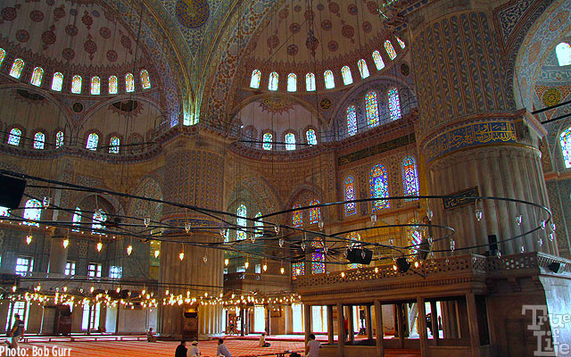 Interior of the Istanbul Blue Mosque