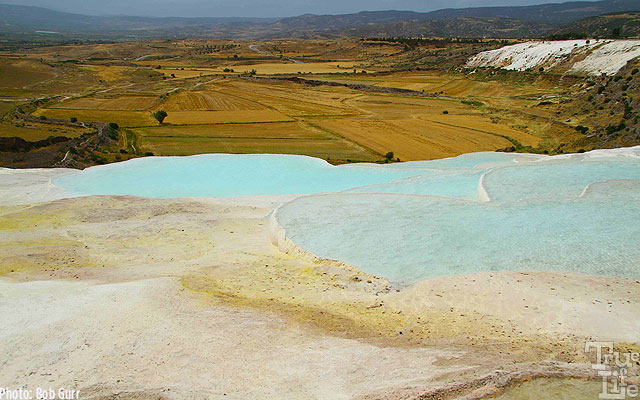 Pamukkale feature hot blue water ponds with views