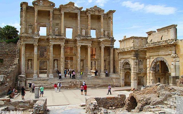 Ephesus has a dramatic library still standing