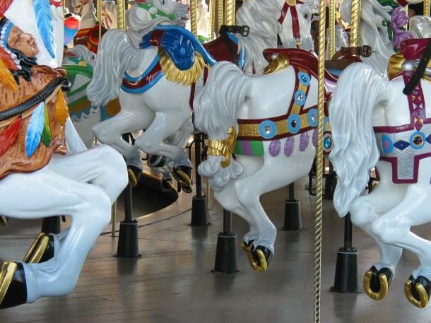 The carousel in Orlando's Magic Kingdom