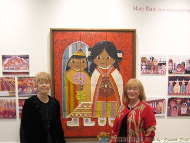 Maggie Richardson and Scarlett Stahl at Mary's mural