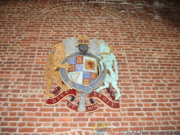 emblem on church wall
