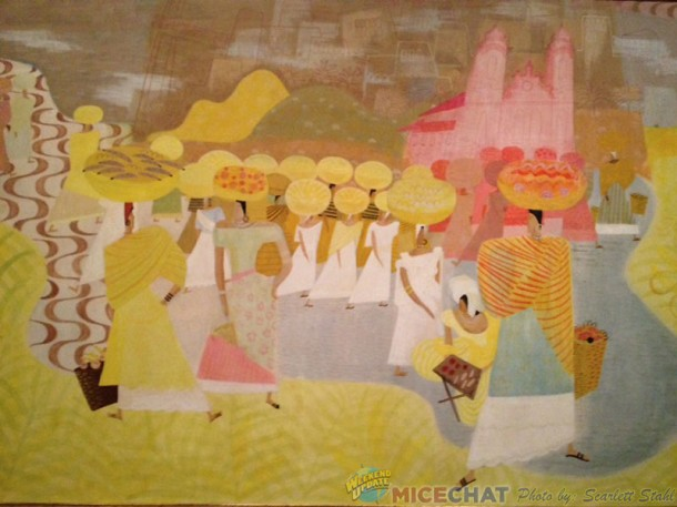 Right side of Carmen Miranda mural