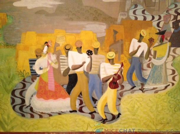 Left side of Carmen Miranda mural