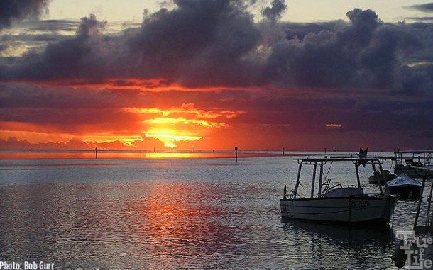 Every Moorea dawn and sunset is an artist's painting