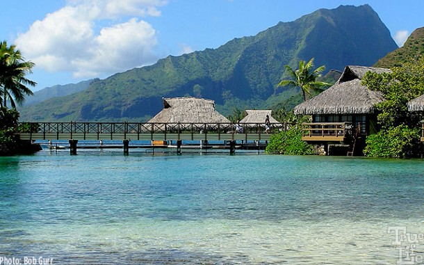 A number of beautiful seaside hotels surround Moorea
