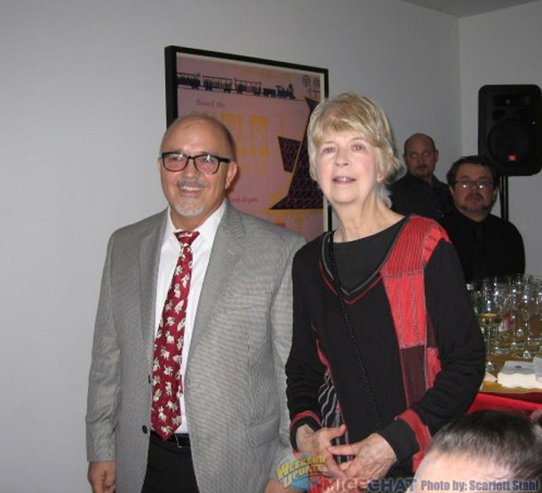 Michael Labrie (Director of Collections at the WDFM and co curator of the exhibit) with Maggie Richardson