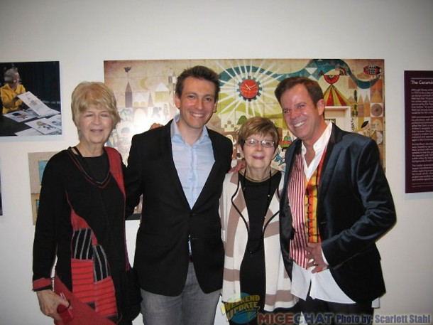 Maggie Richardson (niece of Mary Blair), Fabrizio Mancinelli (composer), Jeanne Chamberlain (niece of Mary Blair) with her son Kevin Allinson