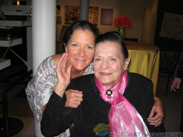 Dawn Estes-Hilton (niece of Alice Davis) and Alice Davis (widow of Marc Davis and a Disney Legend in her own right)