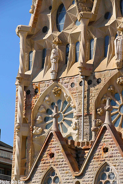 Details of the newer Sagrada construction