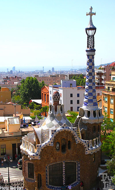 Gaudi had no fear to build very slender towers overlooking the city