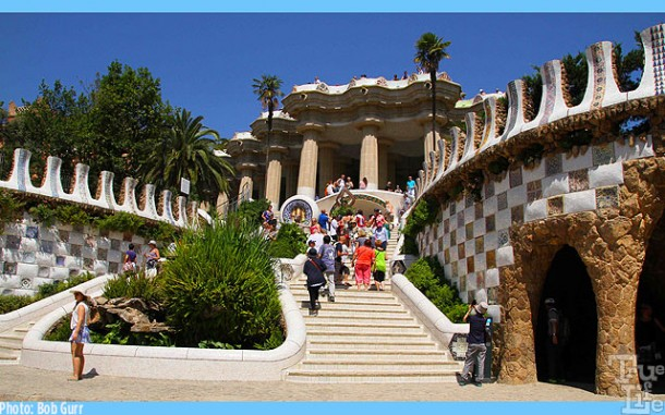 The picturesque entrance to Parc Guell