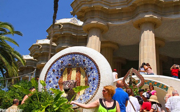 Parc Guell is a fairyland of tile