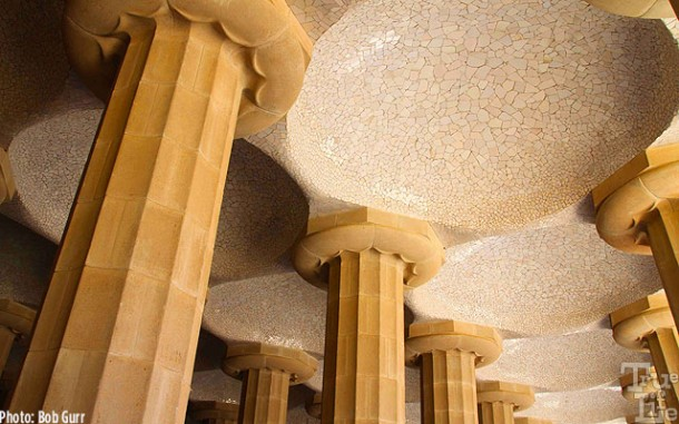 Columns act as terrace rain water drains to fill underground cisterns