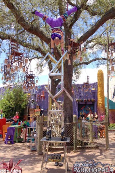 Acrobat defying gravity in Pantopia