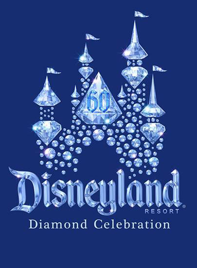 The logo for DIsneyland's Diamond Celebration was revolved this morning.