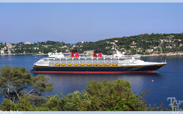 The beautiful Disney Magic at Port Villefranche in France