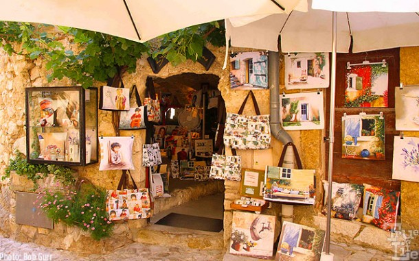 For Eze guests, so much in artistic souvenirs are seemingly everywhere