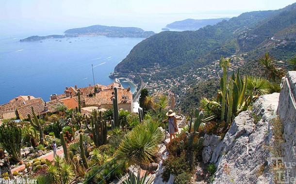 The Eze peak provides a dramatic sea vista with the Magic in the distance
