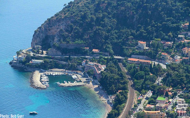 Just below Eze is a very private beach resort on the Cote 'd Azur coast