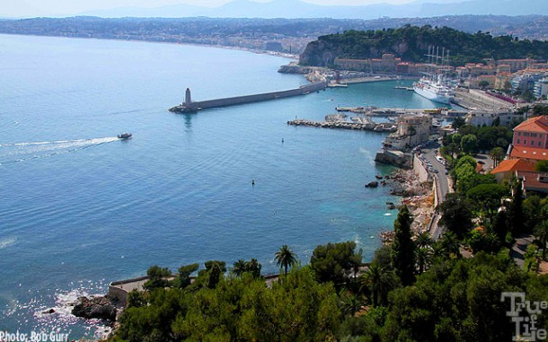 The city of Nice with it's small port is just west of Villefranche