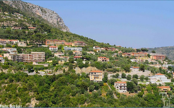 Eze, a historic hilltop village, also has a modern section in the hills