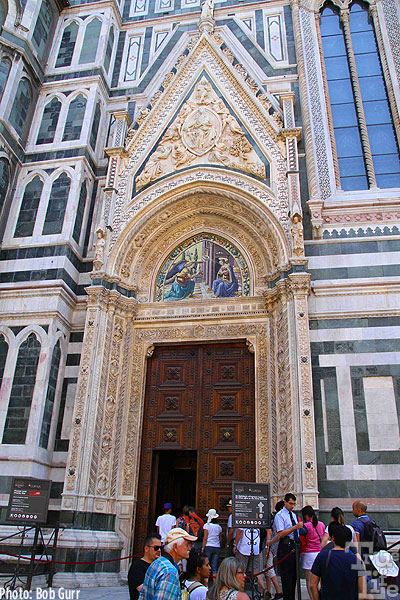 Cathedral Santa Maria del Fiore intricate tiled entrance
