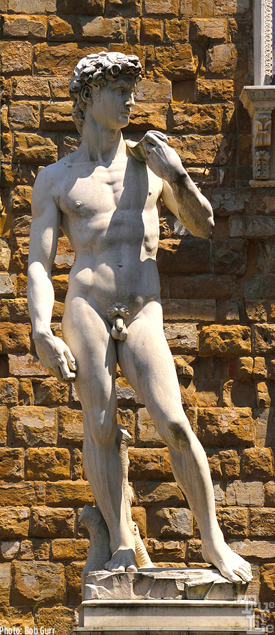 Probably the most recognizable statue is Michelangelo's David
