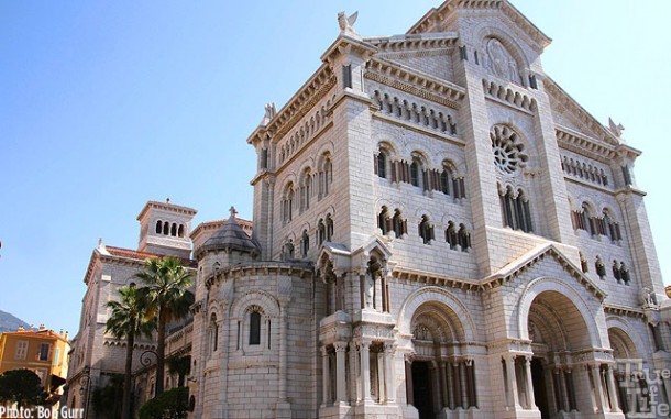 The Cathedral of Monaco, resting place of American actress Grace Kelly